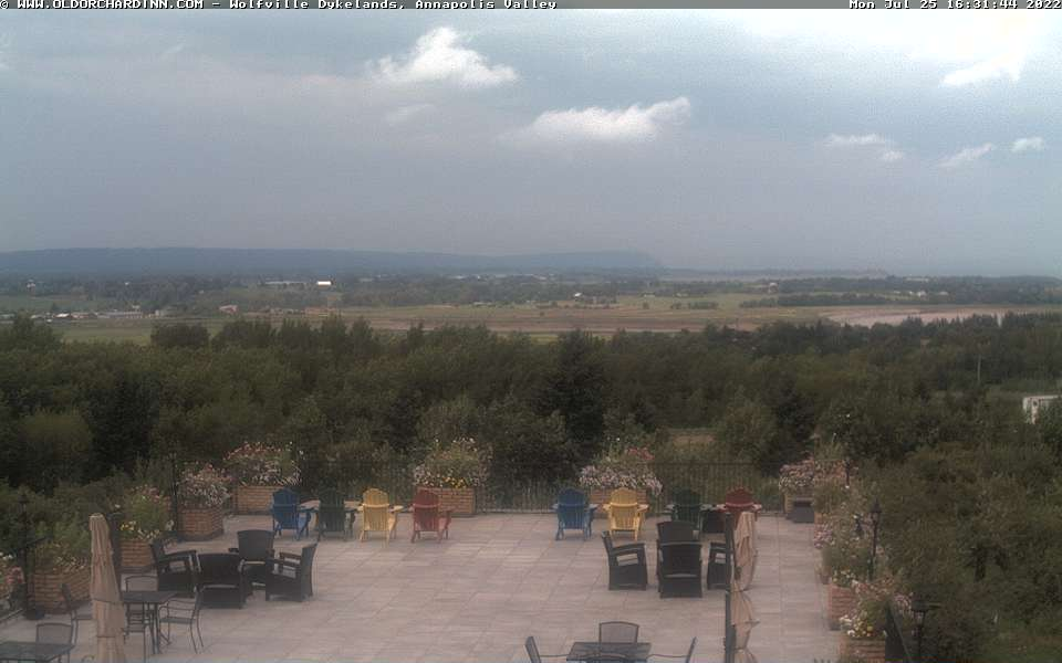 Webcam view of Wolfville Dykelands